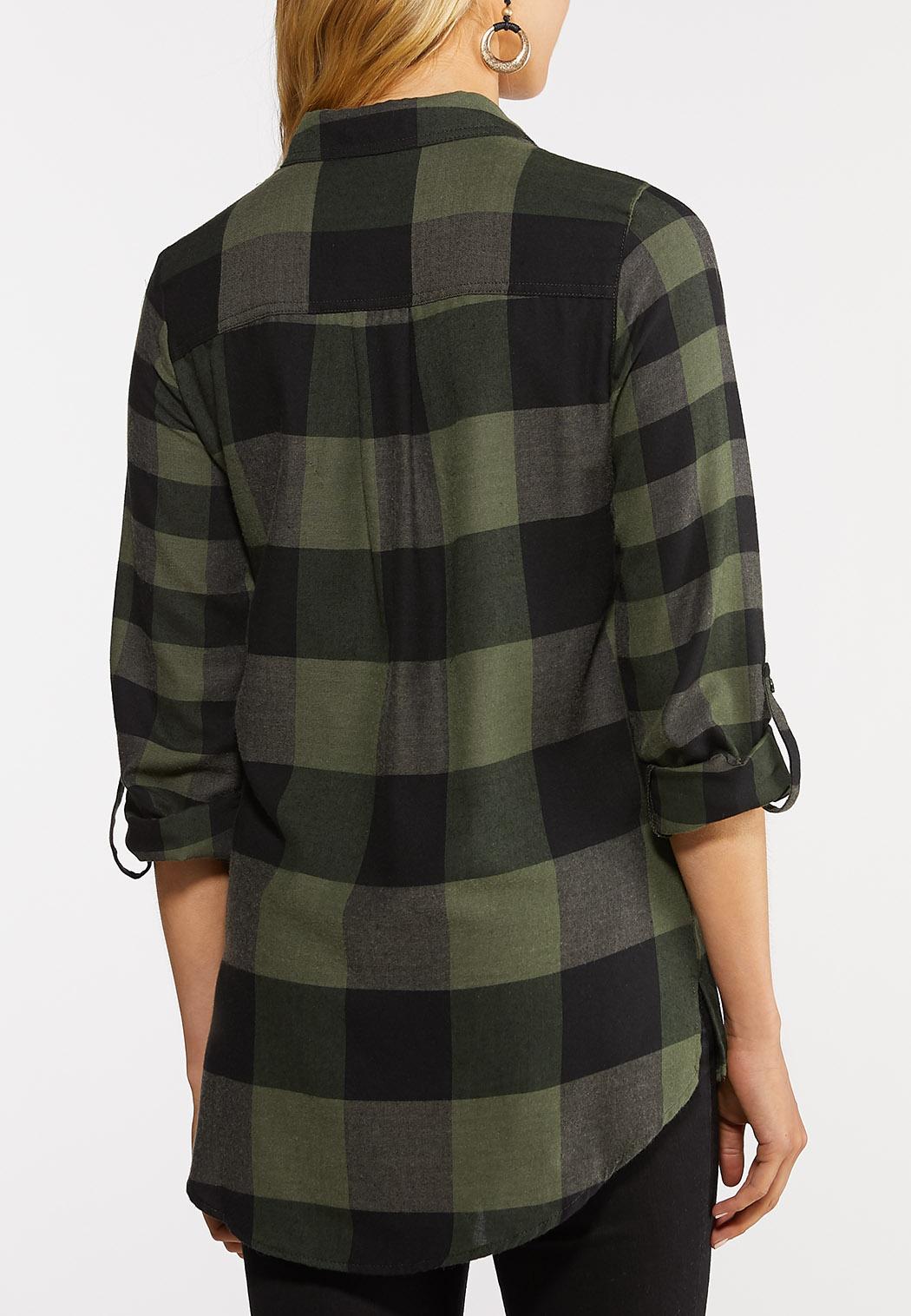 Black And Green Plaid Shirt (Item #43969514)