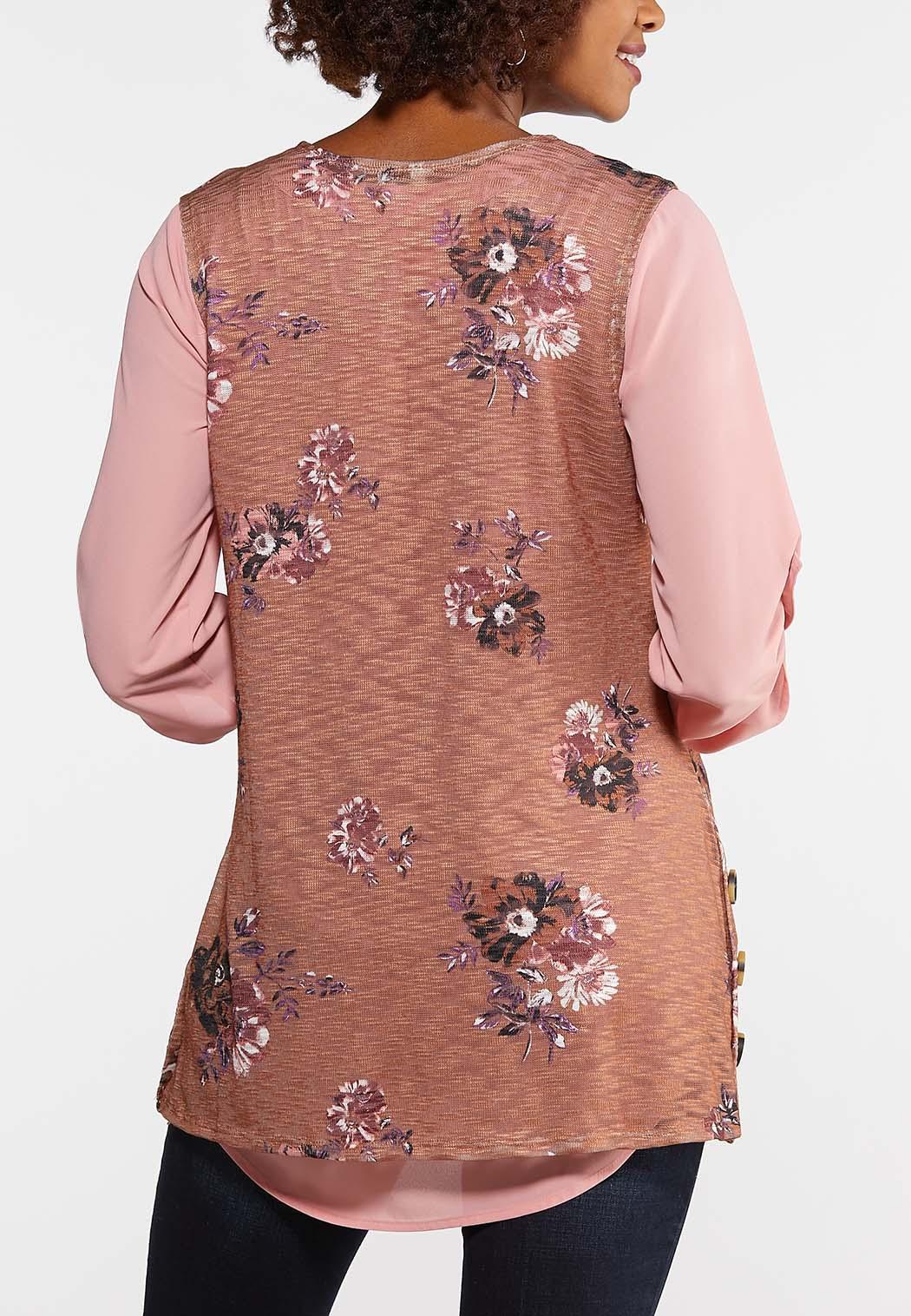 Brown Floral Vest (Item #43969858)