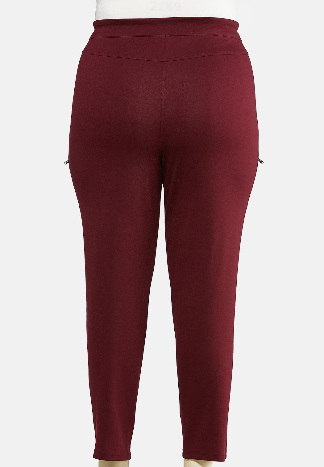 Plus Size Slim Utility Ponte Pants (Item #43976842)