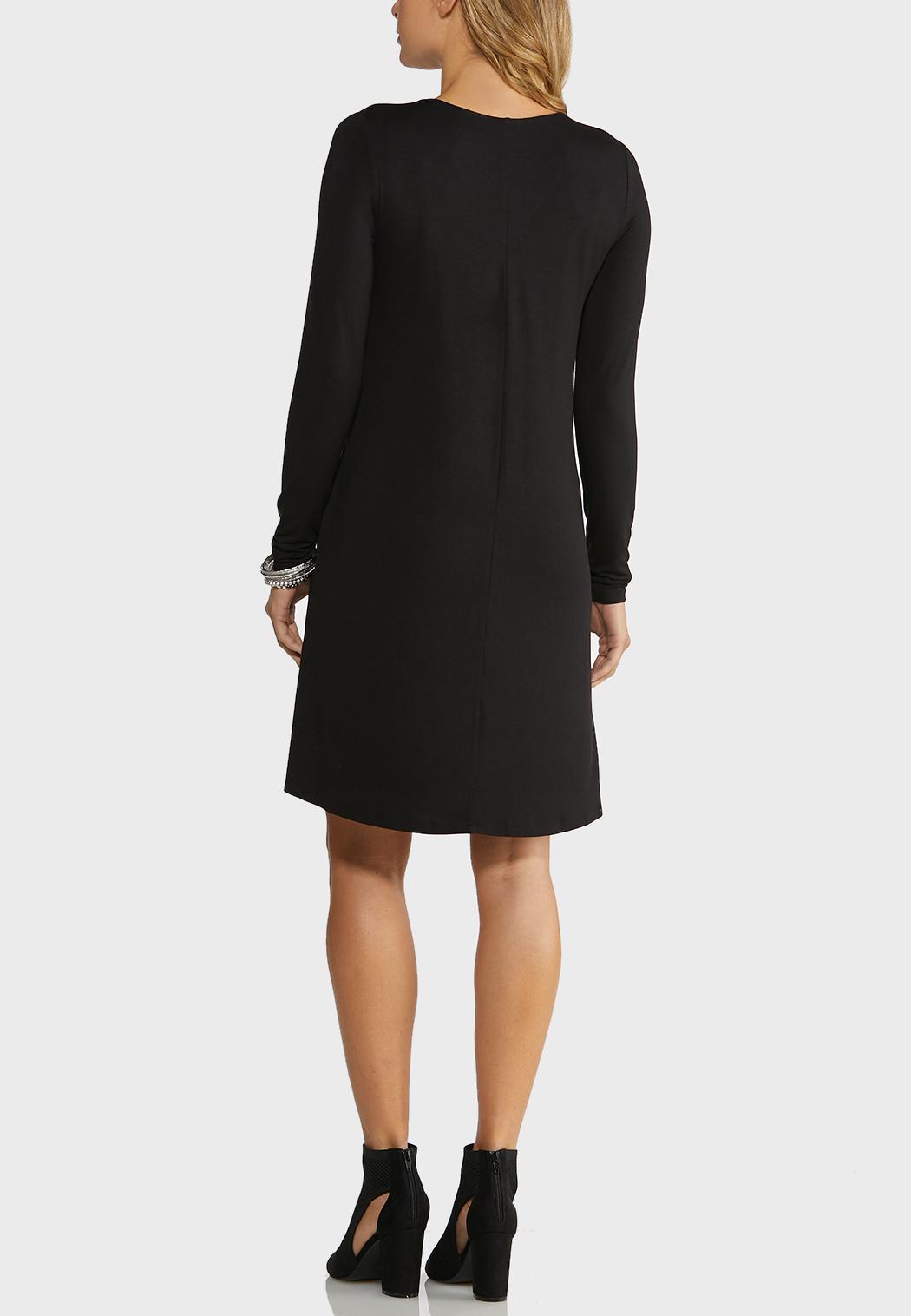 Plus Size Comfy Solid Swing Dress (Item #43979381)