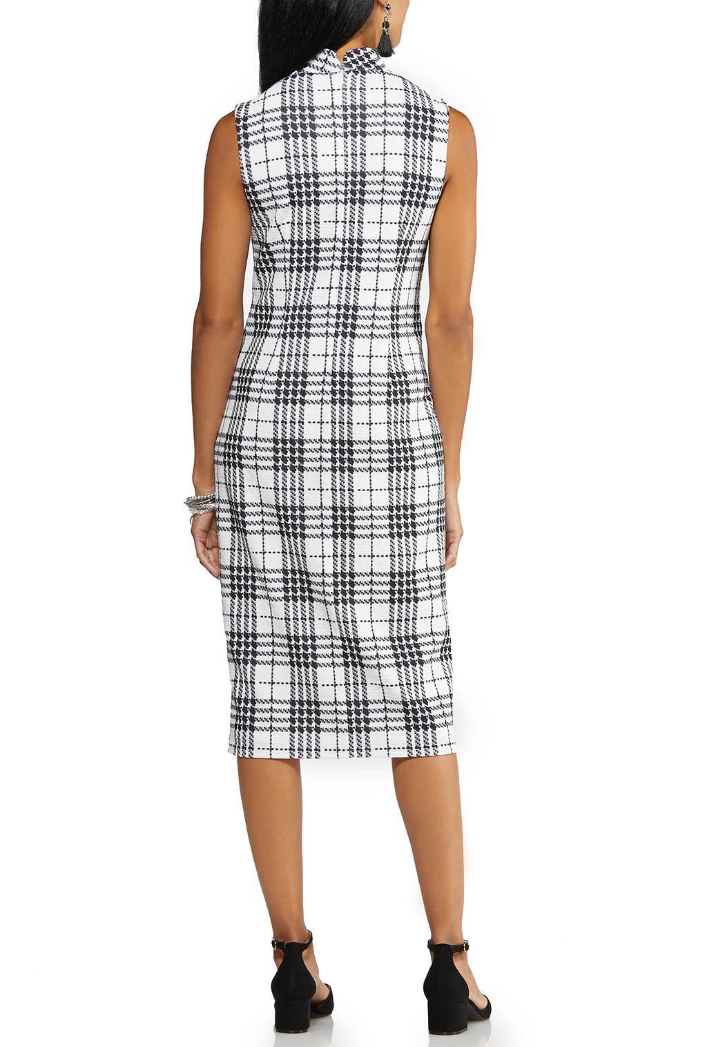 Textured Plaid Midi Dress (Item #43979607)