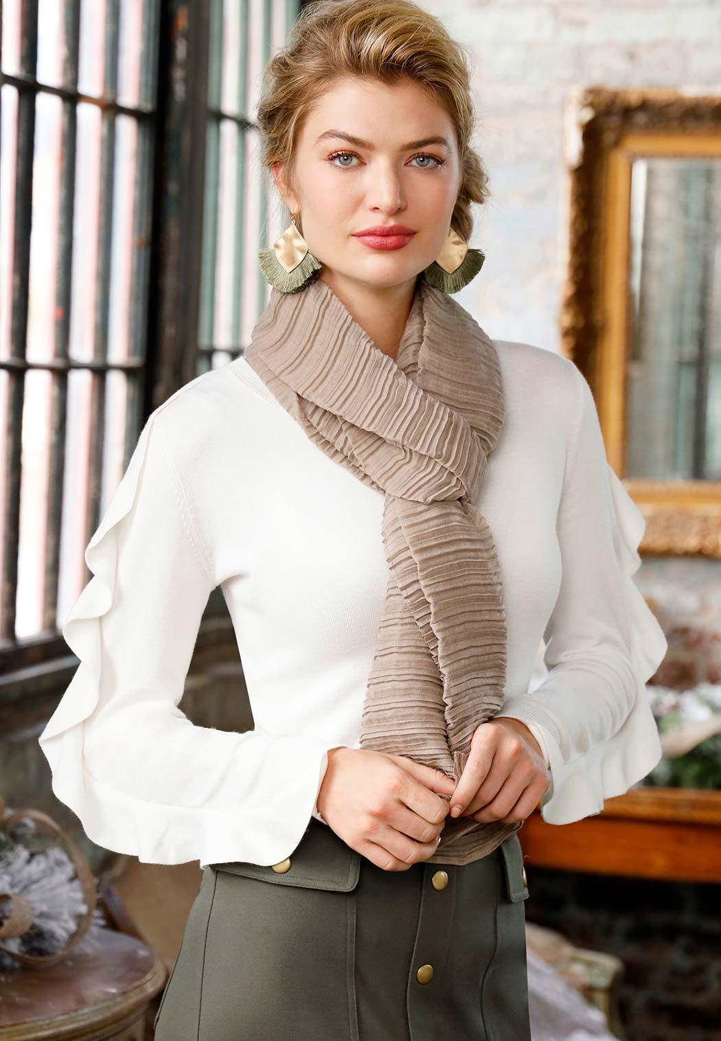 Solid Textured Oblong Scarf (Item #43979987)