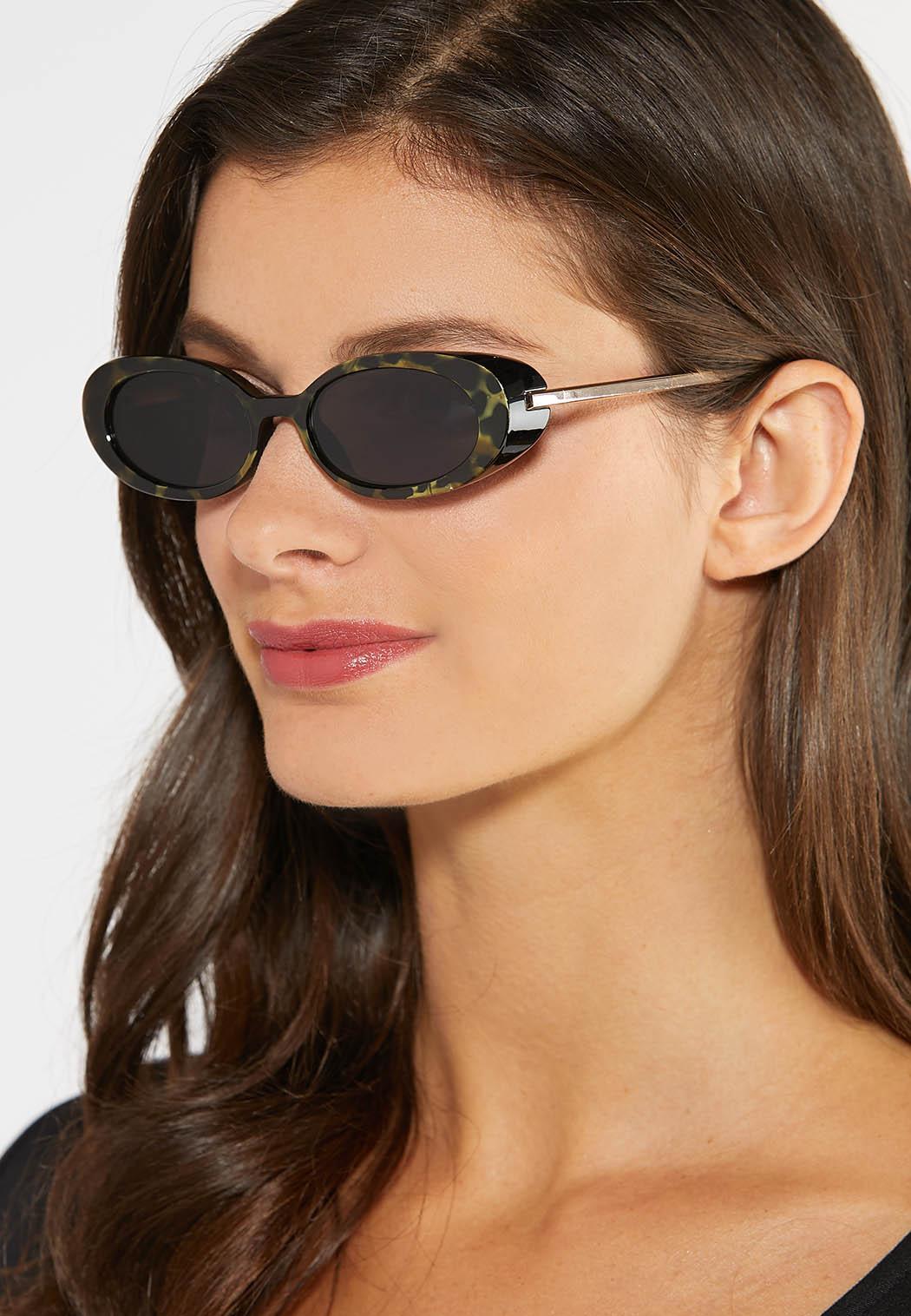 Green Tortoise Oval Sunglasses (Item #43981329)