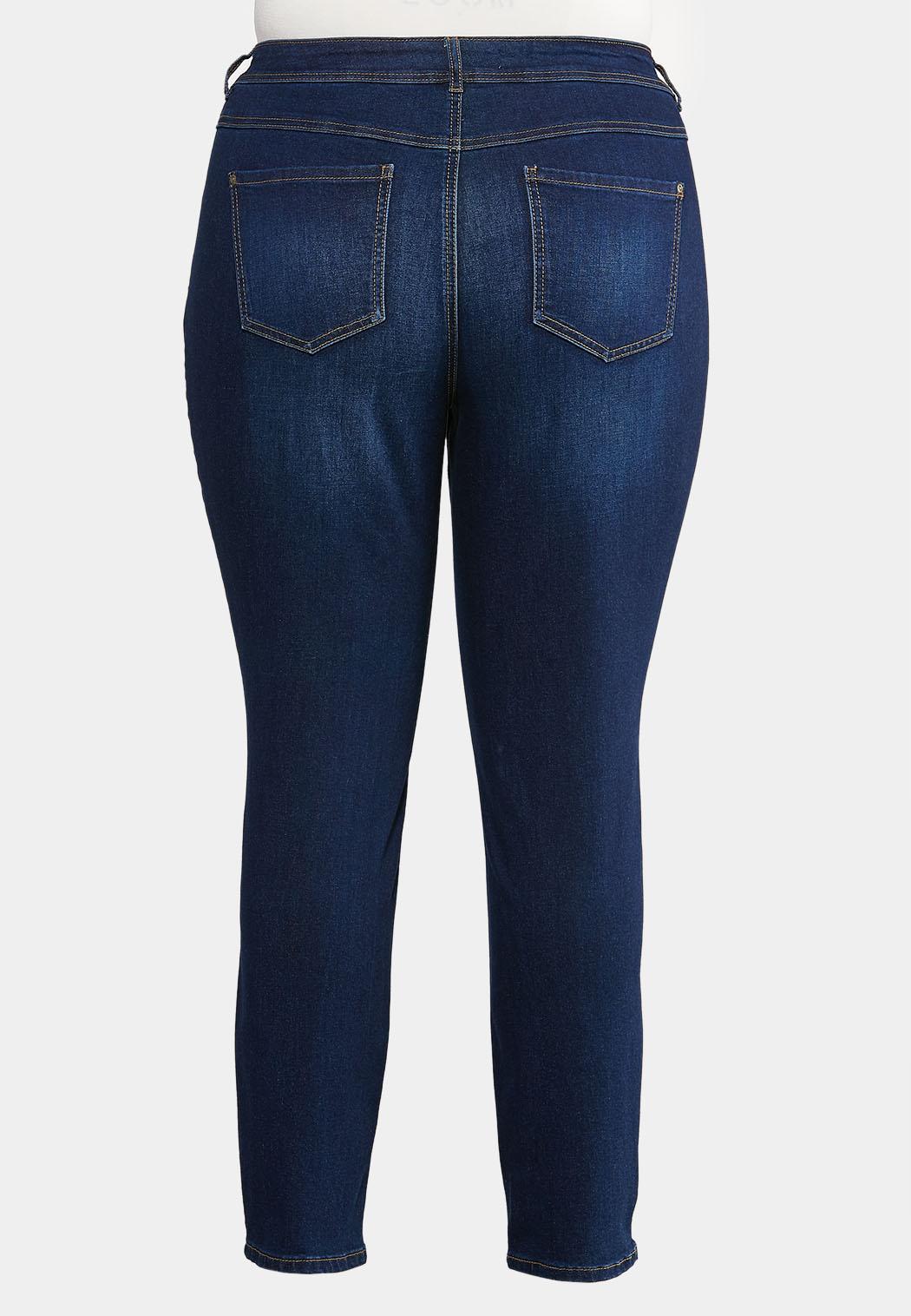 Plus Size Essential Dark Wash Jeans (Item #43981848)