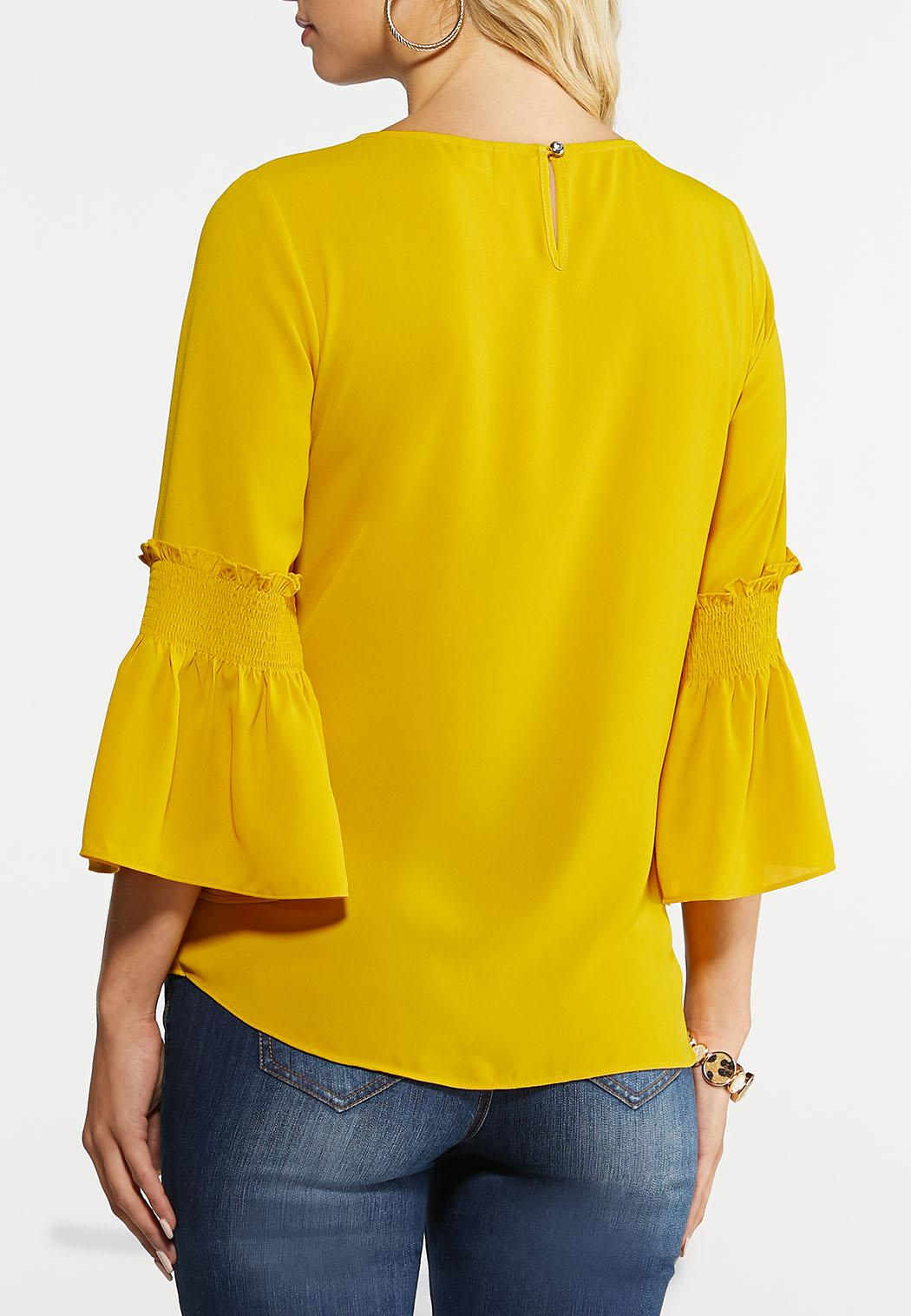 Smocked Bell Sleeve Top (Item #43982438)