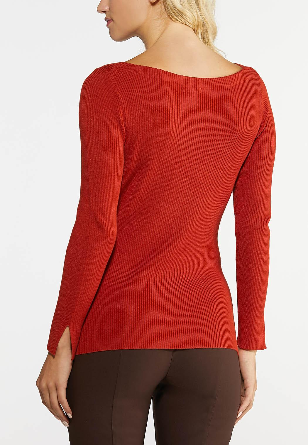 Plus Size Ribbed Pullover Top (Item #43985990)