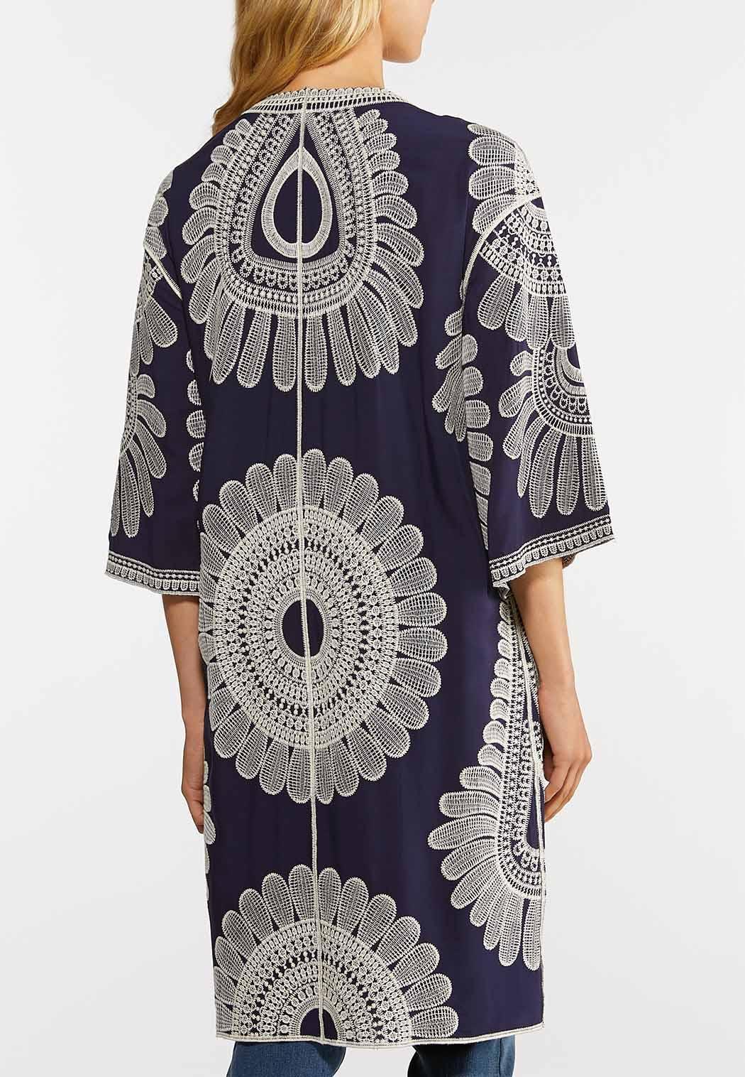 Embroidered Navy Kimono (Item #43987942)