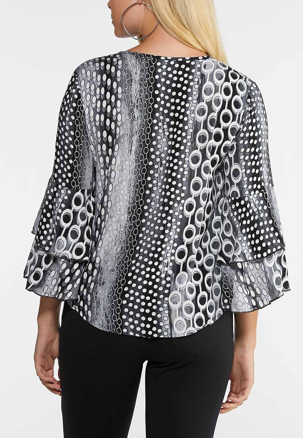 Plus Size Mod Tiered Sleeve Top (Item #43988214)