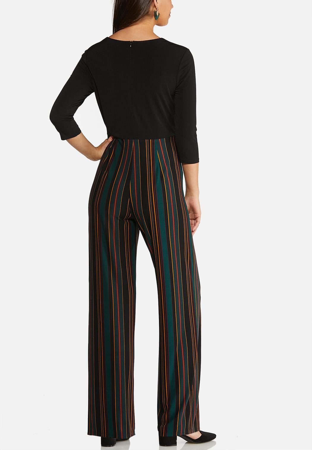 Striped and Solid Jumpsuit (Item #43989285)
