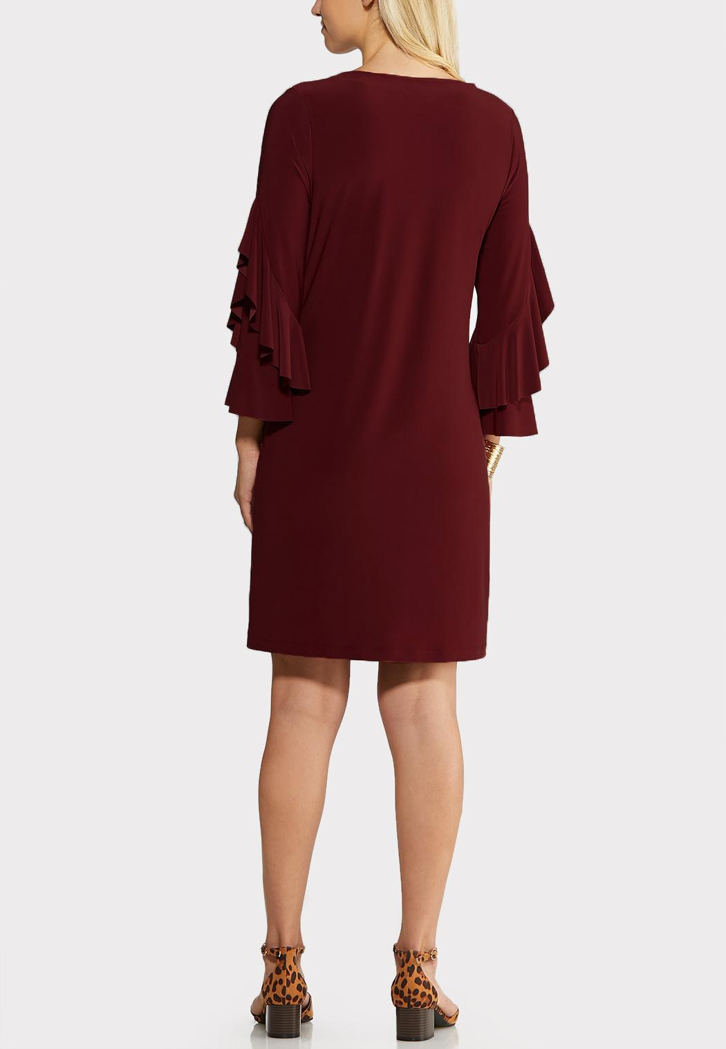 Flounce Sleeve Sheath Dress (Item #43989475)