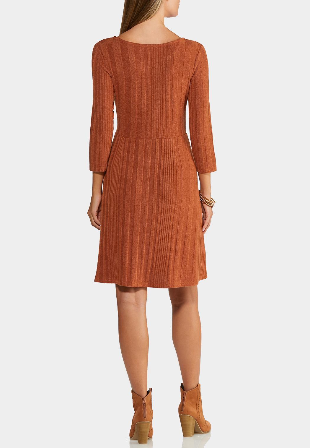 Plus Size Ribbed Twist Dress (Item #43989661)