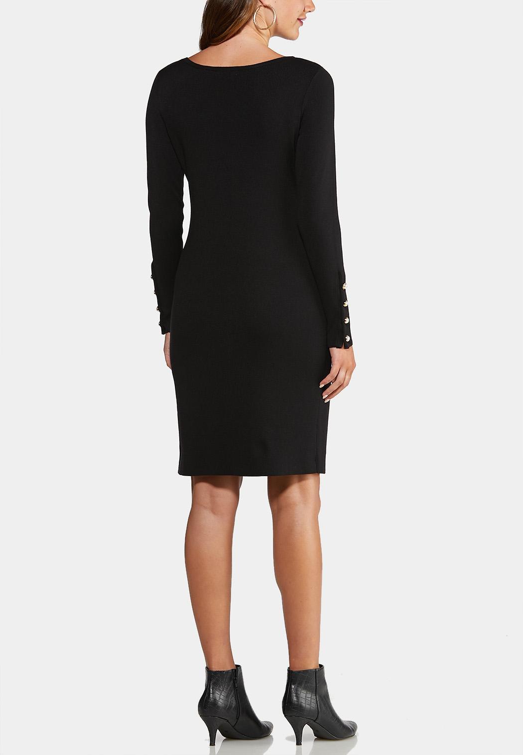 Plus Size Pearl Button Dress (Item #43989732)