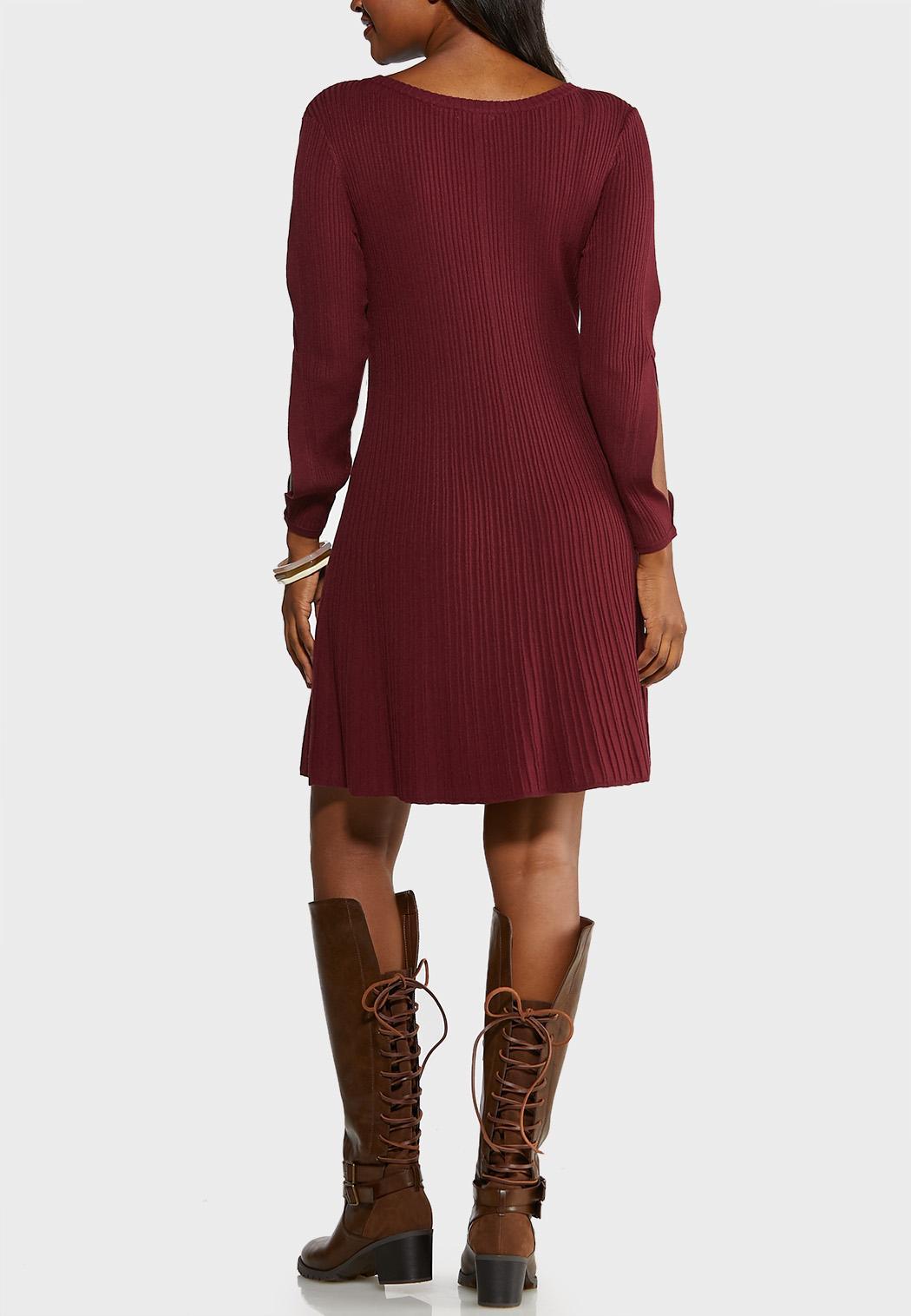Cold Shoulder Sweater Dress (Item #43989757)