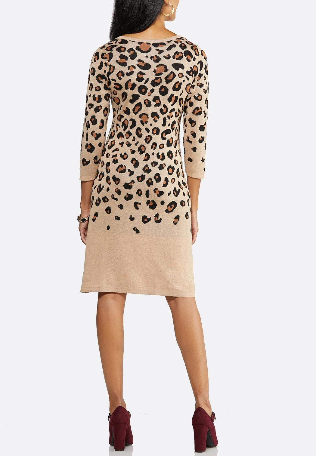 Leopard Sweater Dress (Item #43989811)