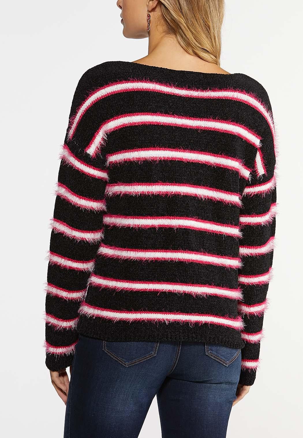 Fringe Stripe Sweater (Item #43990657)