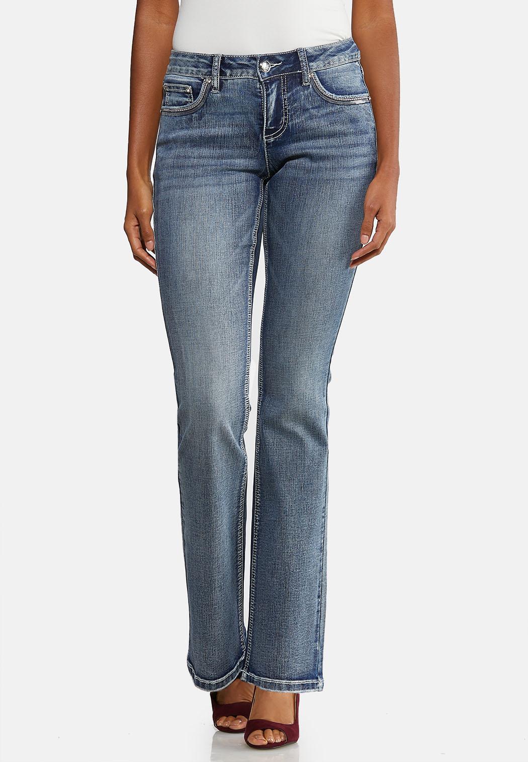 Petite Chevron Bling Bootcut Jeans (Item #43991506)