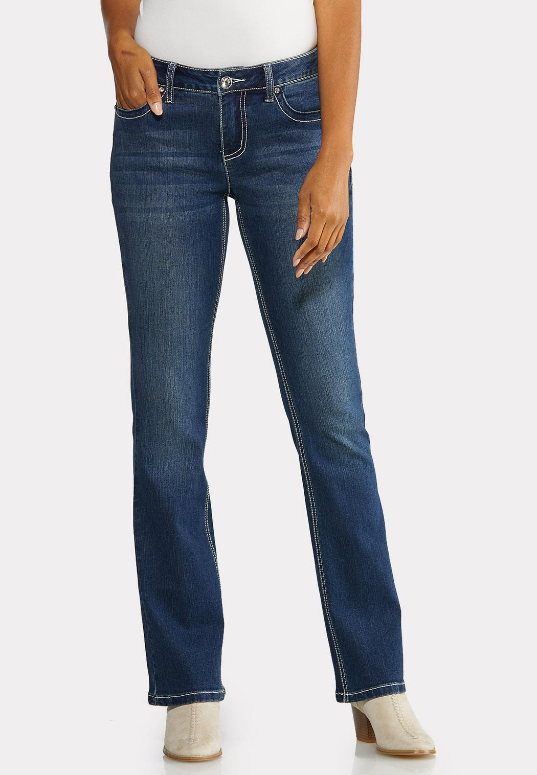 Petite Bling Cross Pocket Jeans (Item #43991559)
