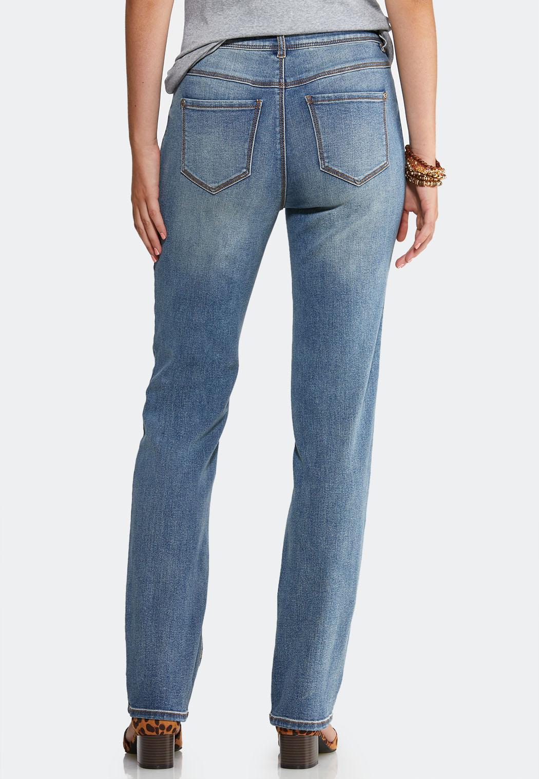Medium Wash Straight Leg Jeans (Item #43992008)