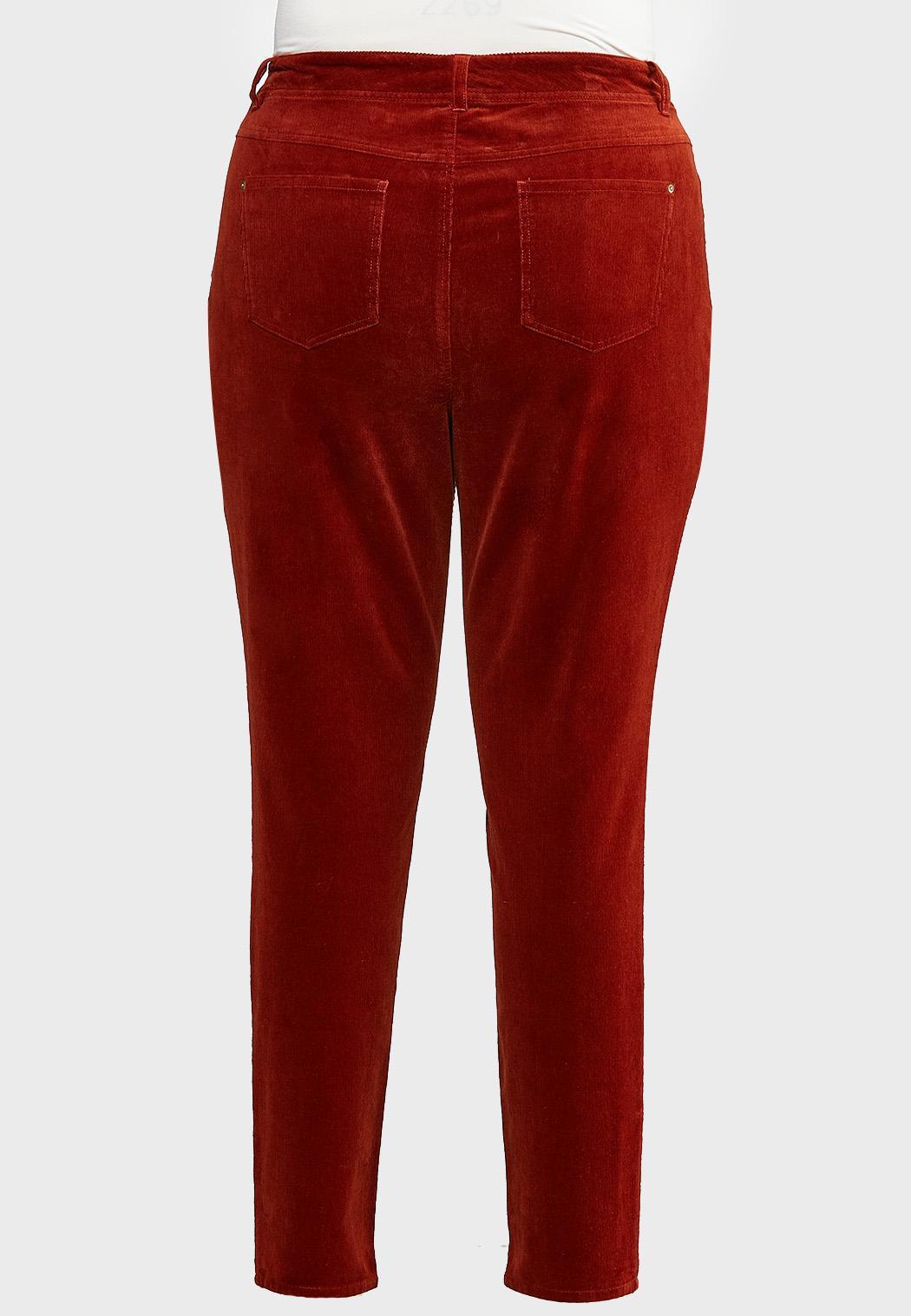 Plus Size Corduroy Slim Pants (Item #43992601)