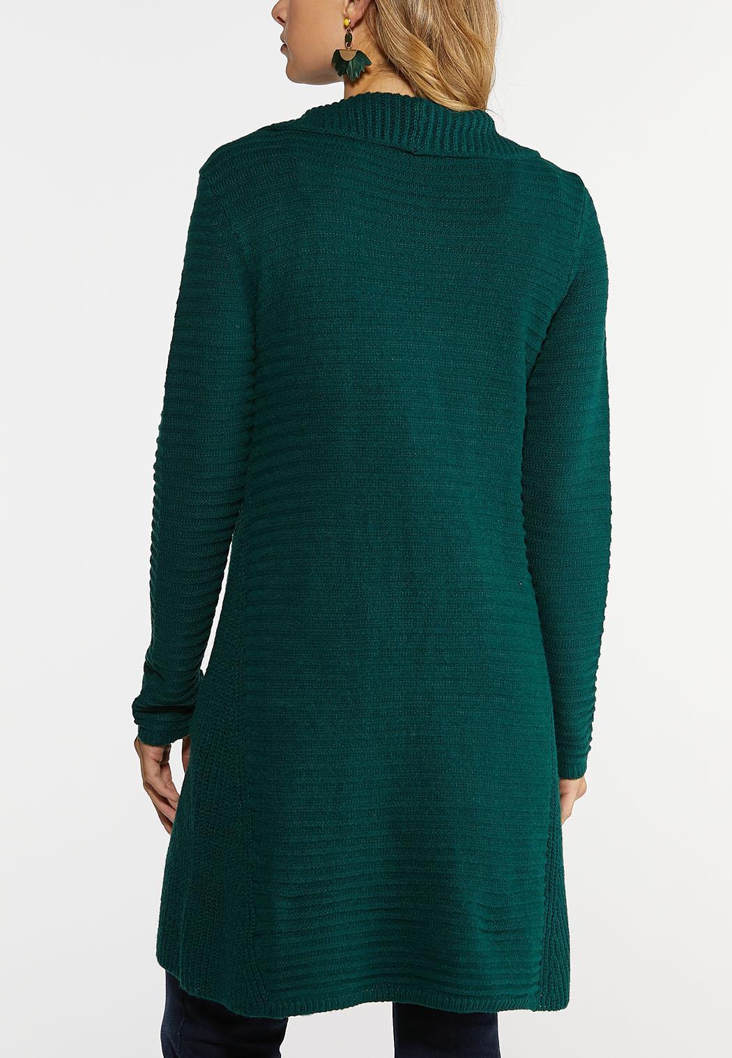Plus Size Knit Yarn Cardigan (Item #43992717)
