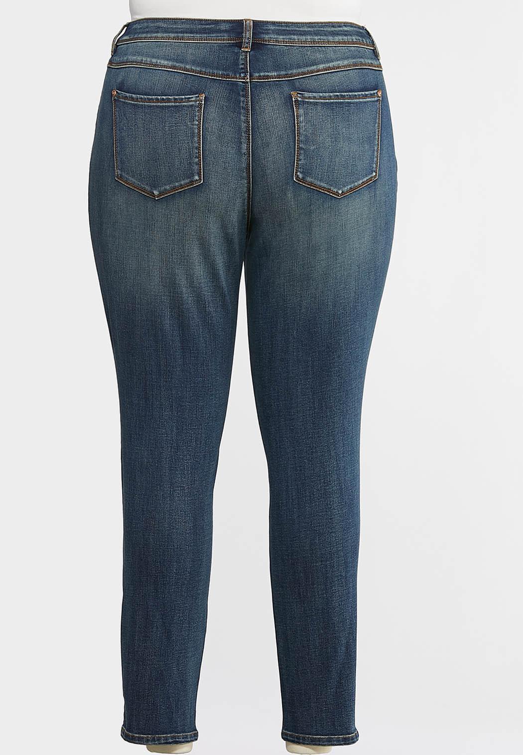 Plus Size Slimming Skinny Jeans (Item #43992718)