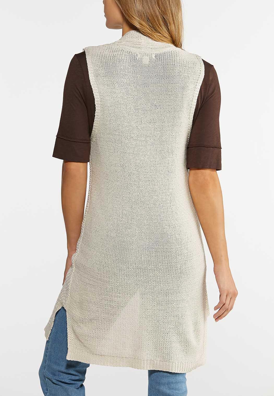 Plus Size Cable Knit Vest (Item #43992899)
