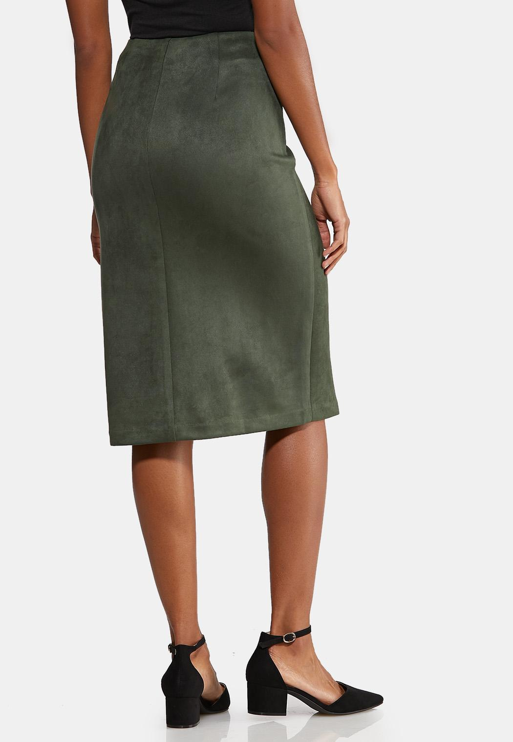 Faux Suede Tie Skirt (Item #43995885)