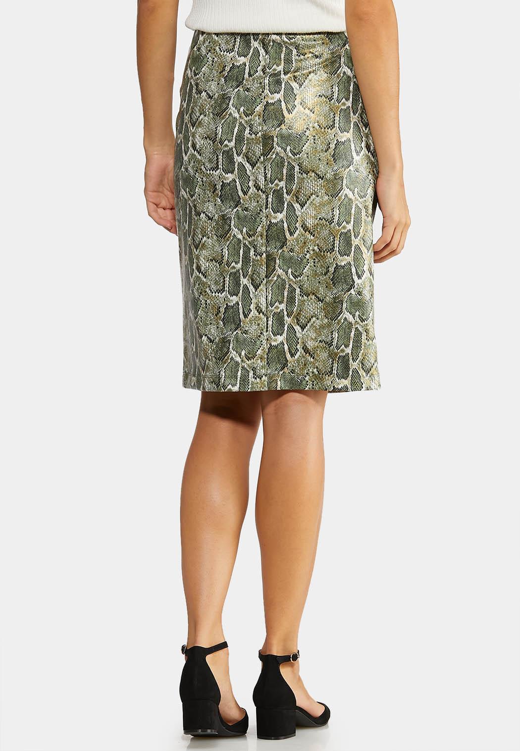 Green Snake Pencil Skirt (Item #43995904)