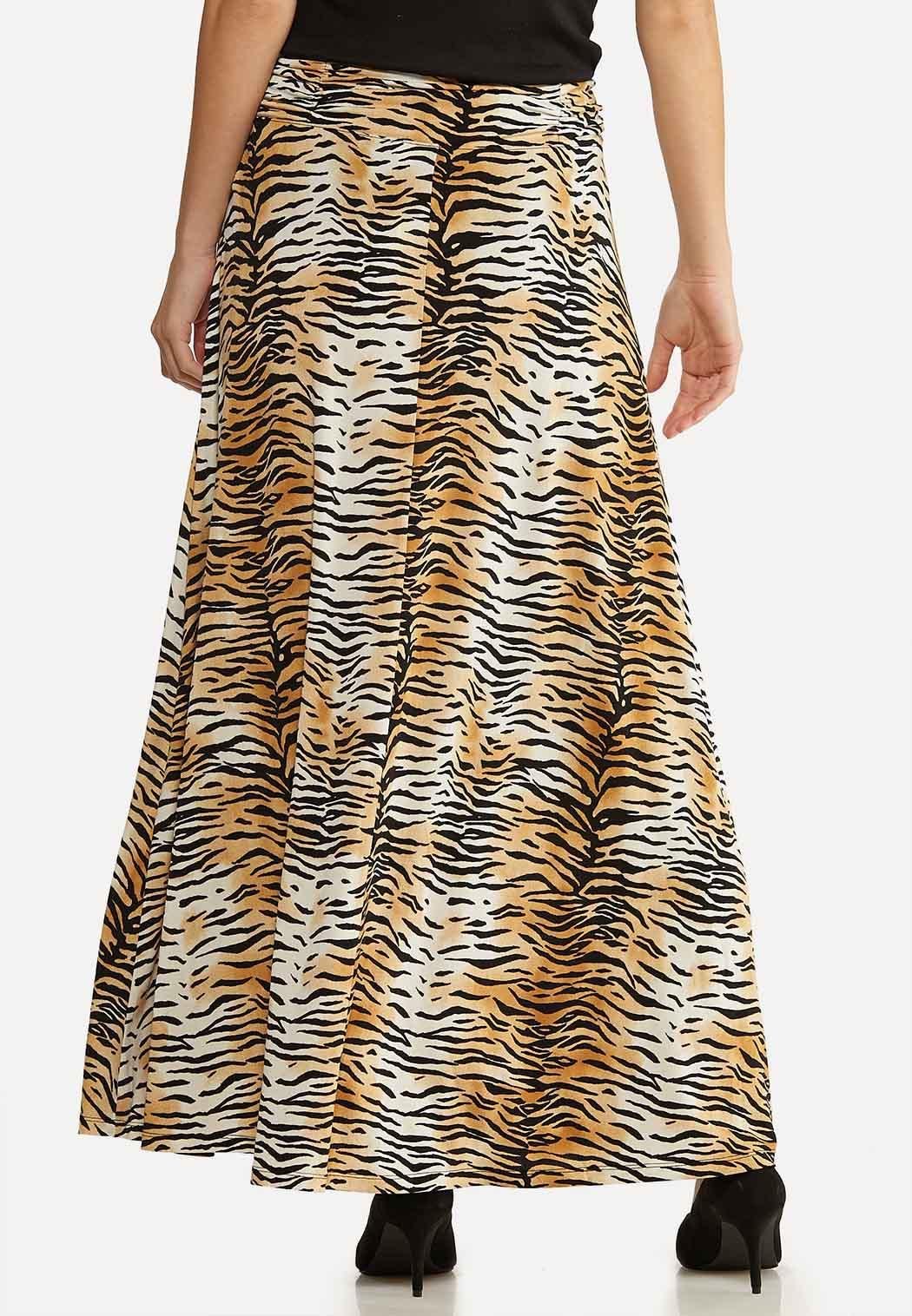 Plus Size Ruched Tiger Skirt (Item #43995924)