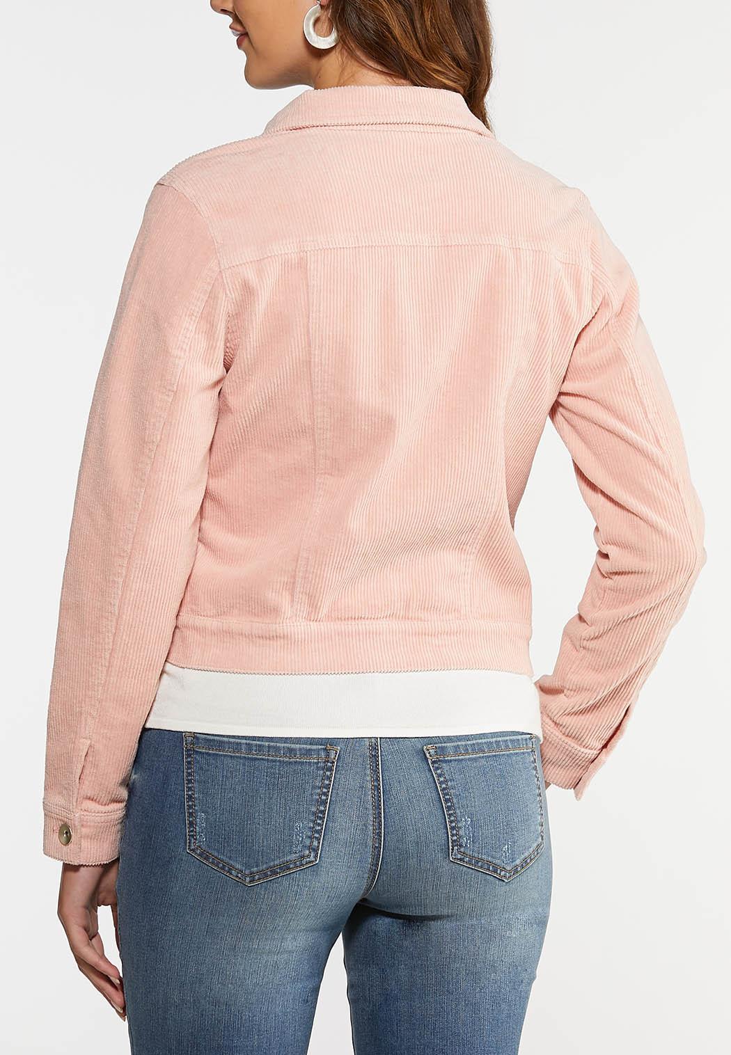 Plus Size Pink Corduroy Jacket (Item #43997365)