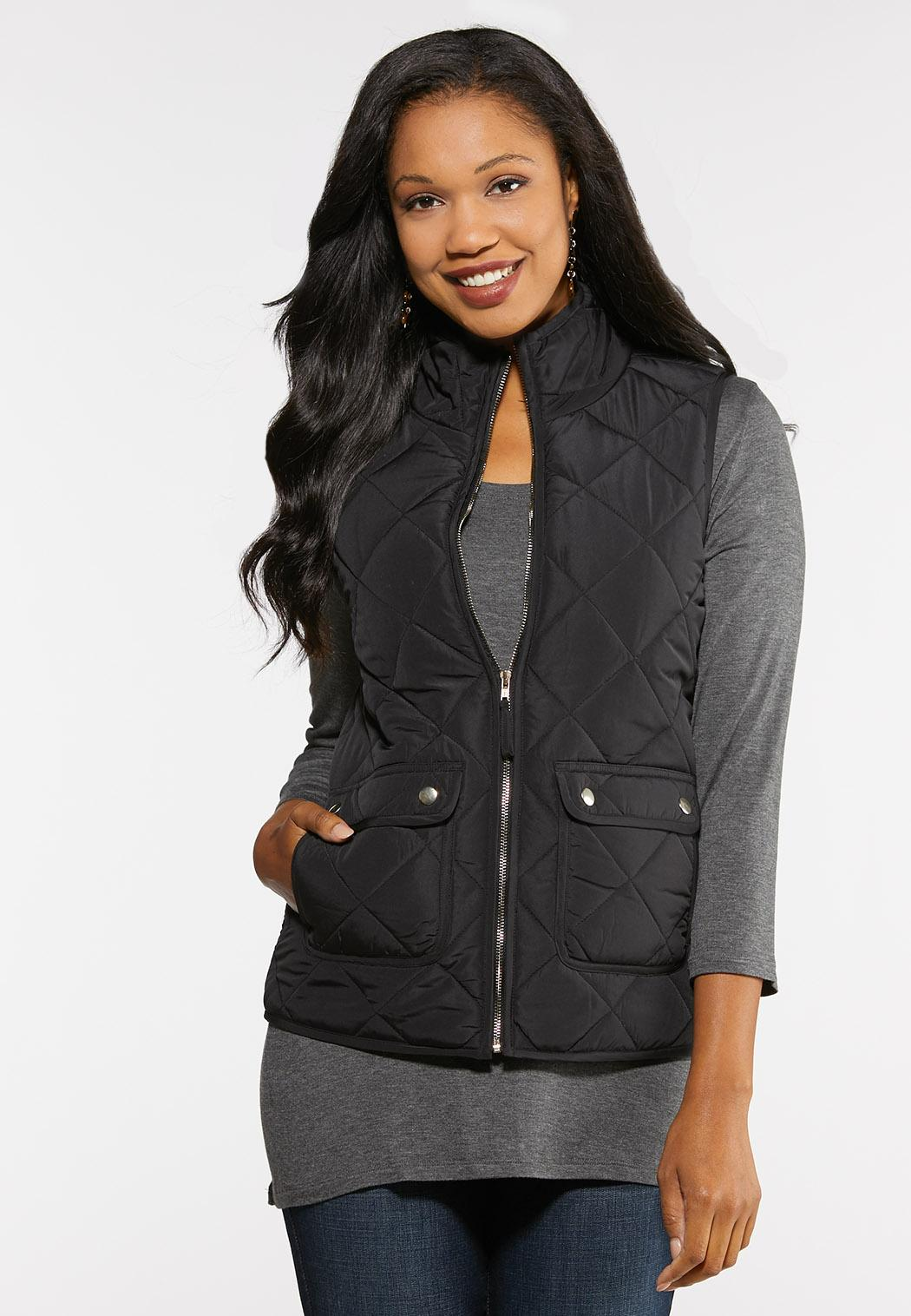 Plus Size Quilted Puffer Vest (Item #43997597)