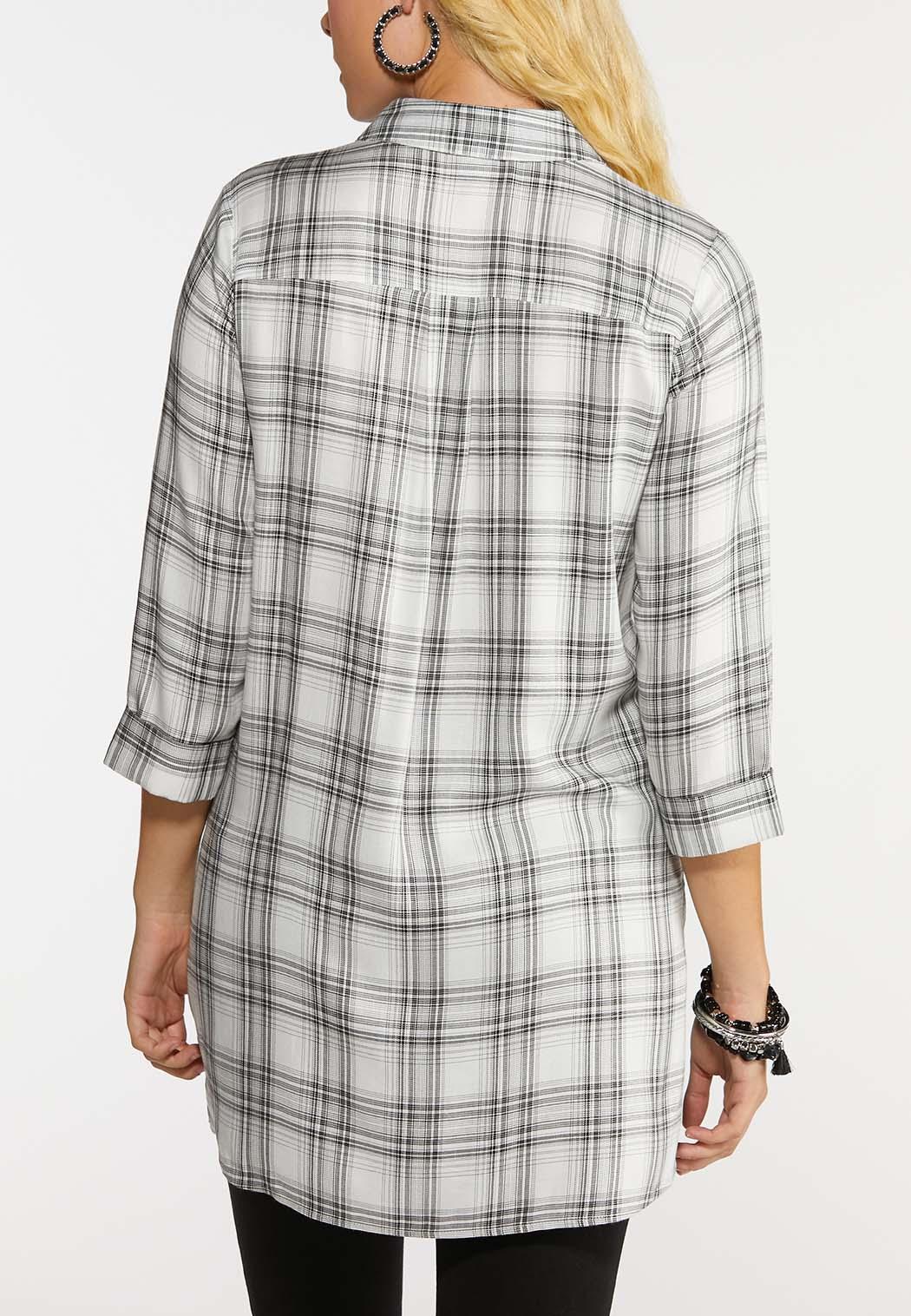 Plus Size Plaid Pullover Tunic (Item #43999300)