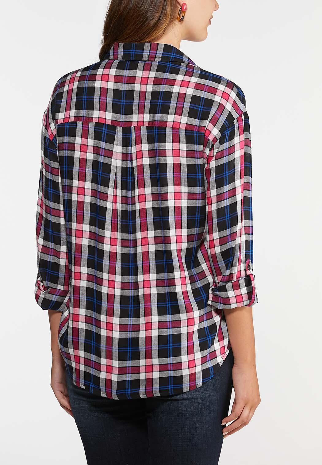 Plus Size Plaid Pullover Top (Item #43999384)
