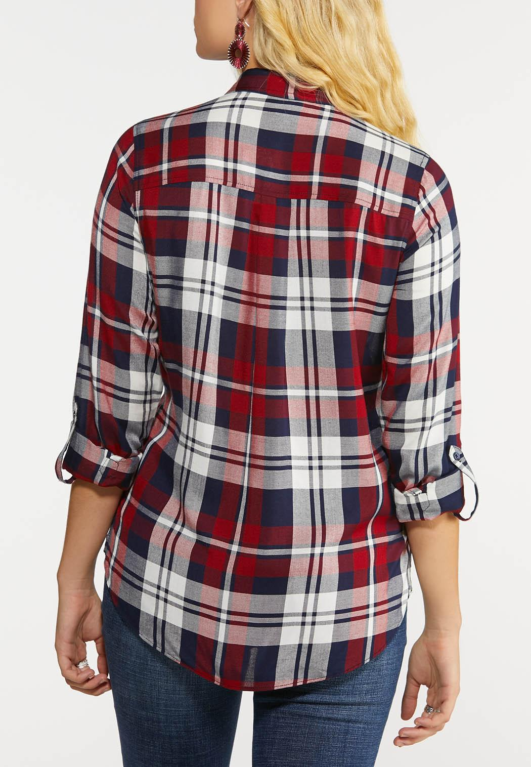 Navy And Red Plaid Shirt (Item #43999511)