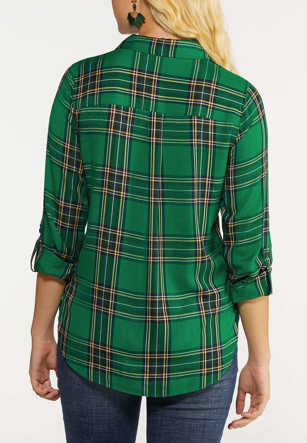 Plus Size Forest Plaid Shirt (Item #43999530)