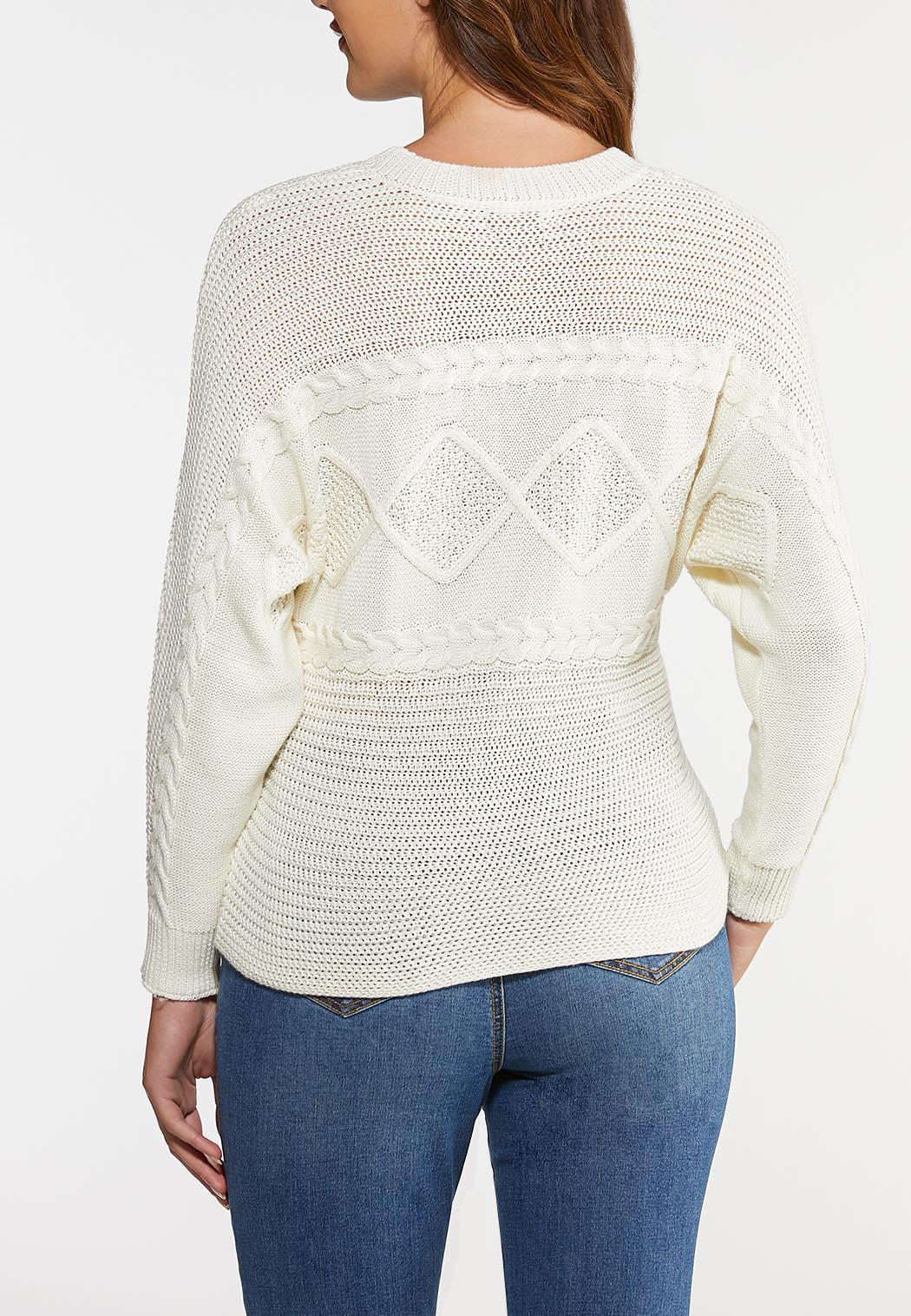 Ivory Cable Stitch Sweater (Item #43999607)