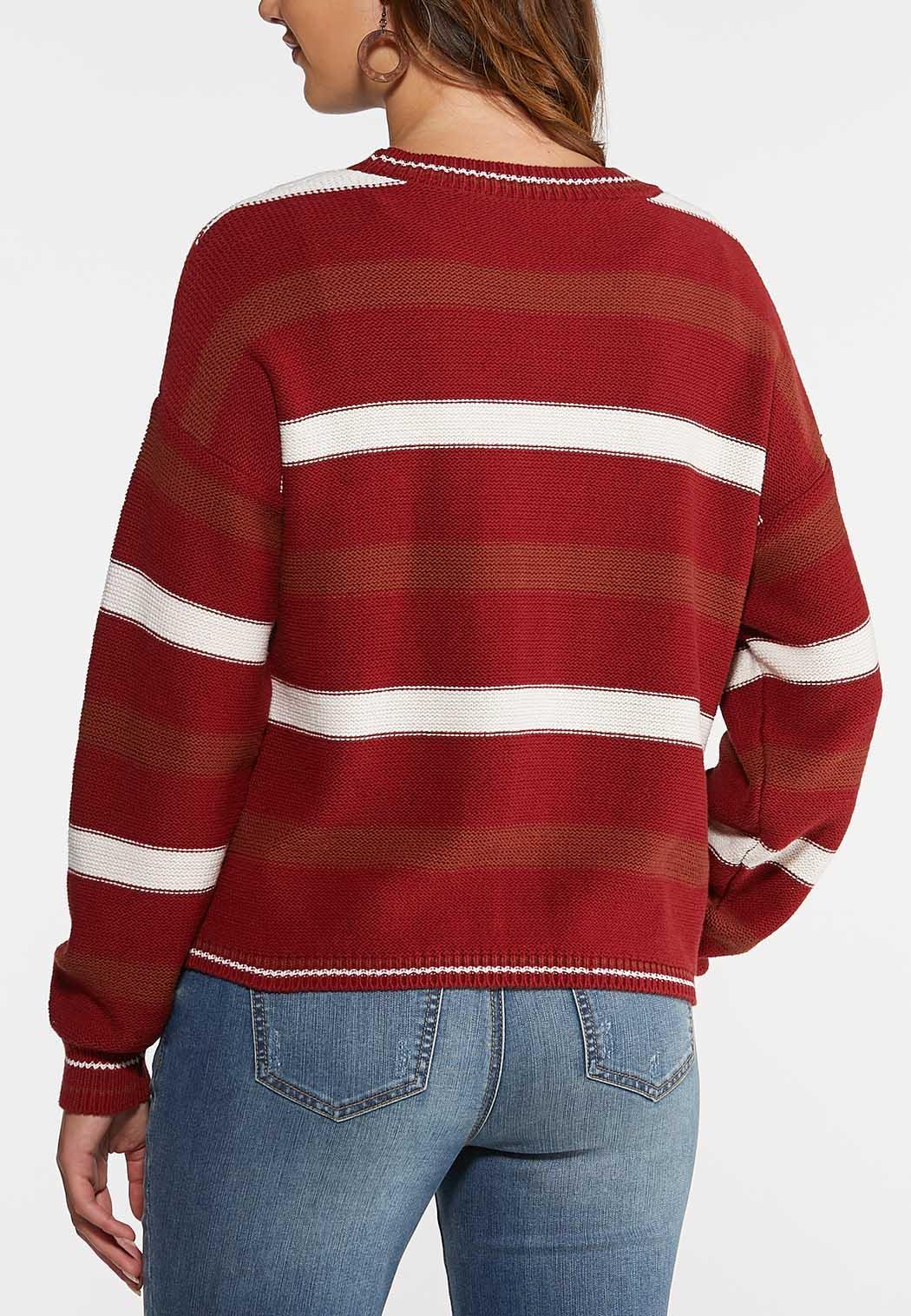 Autumn Red Cardigan Sweater (Item #43999618)