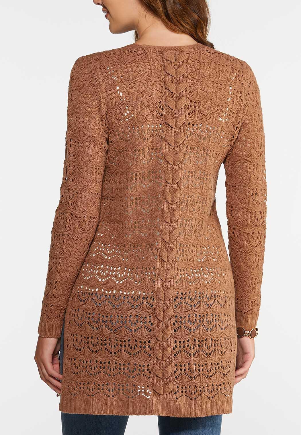 Beige Duster Cardigan Sweater (Item #43999842)
