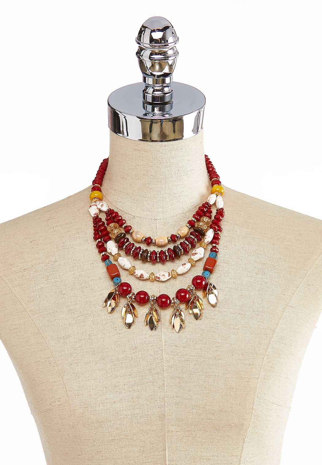 Beads And Petals Swag Necklace (Item #43999926)