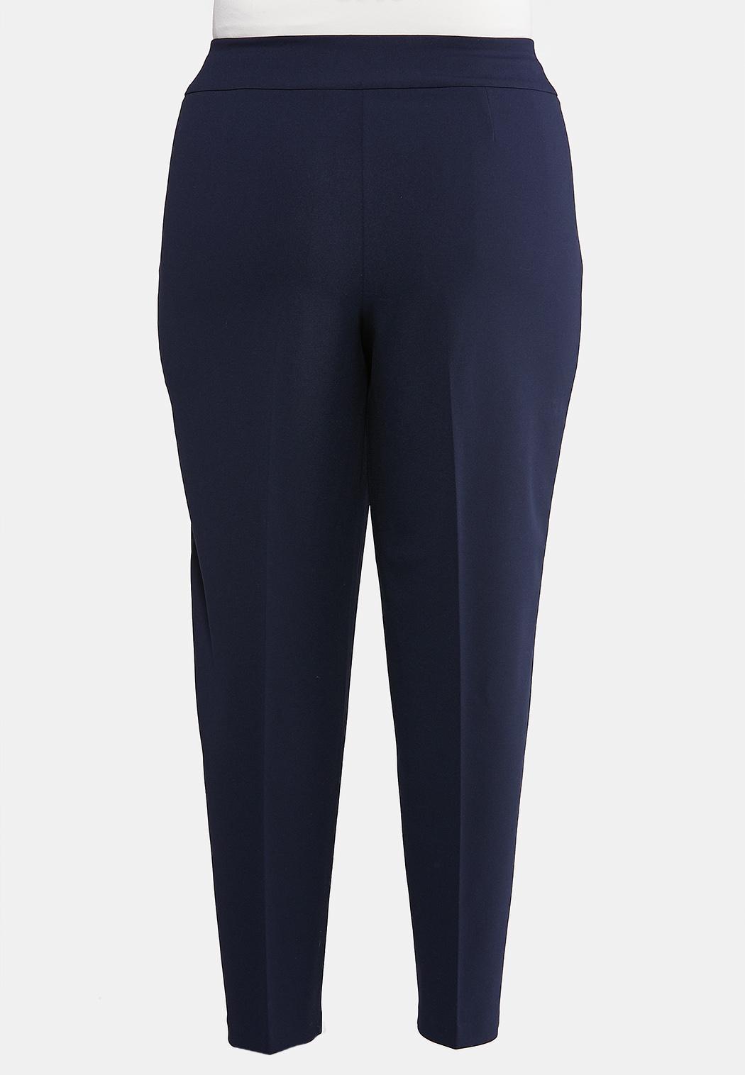 Plus Size Tie Waist Dress Pants (Item #44001917)
