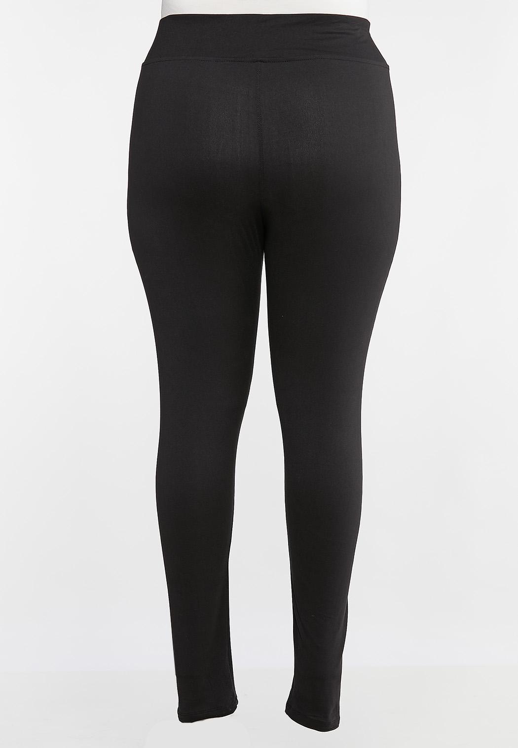 Plus Size Essential Black Leggings (Item #44002290)