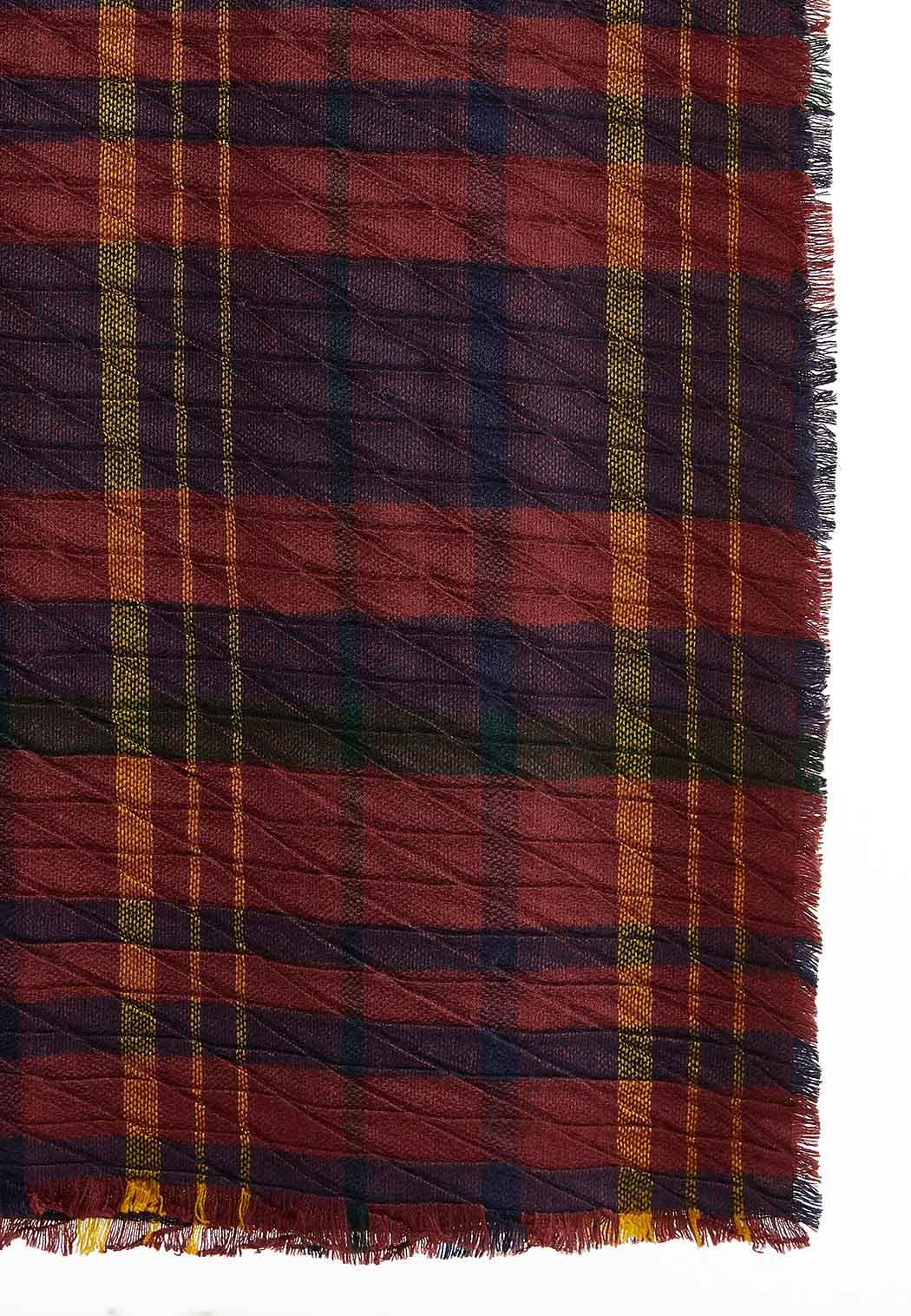 Bold Plaid Blanket Scarf (Item #44002529)