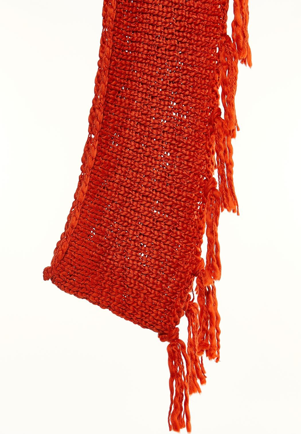 Thick Knit Fringe Infinity Scarf (Item #44002599)