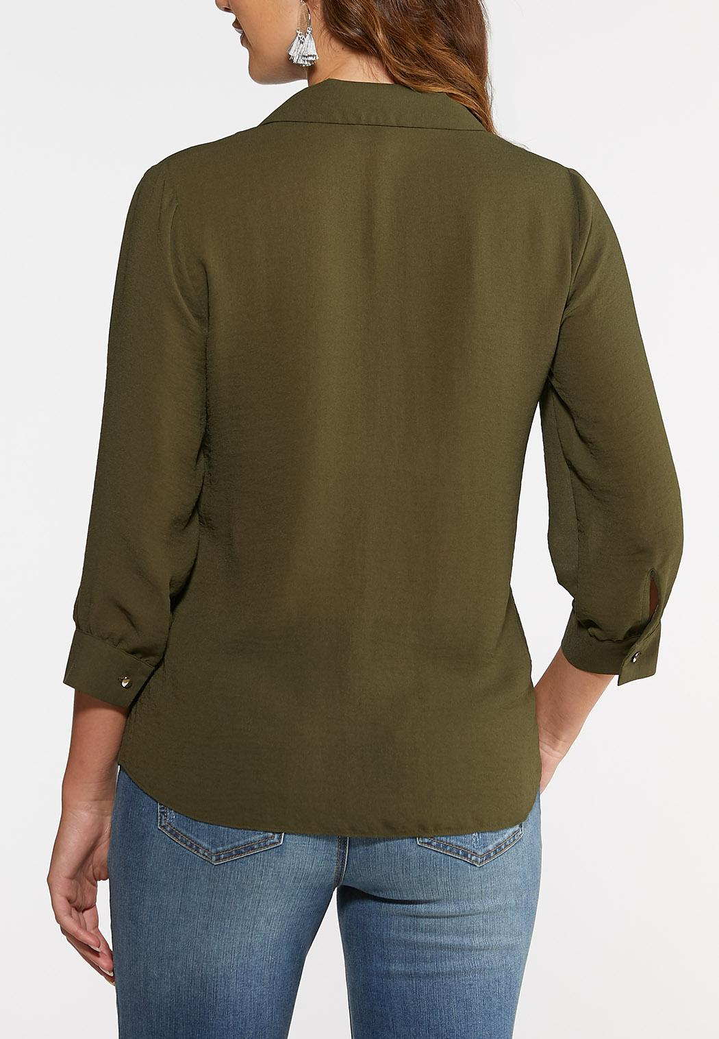 Olive Button Down Shirt (Item #44003554)