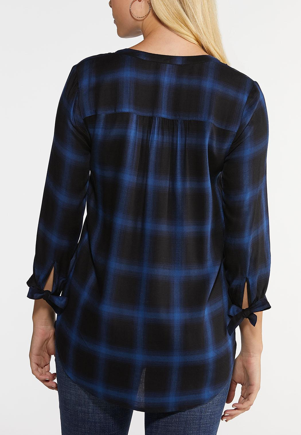Black And Blue Plaid Top (Item #44004299)