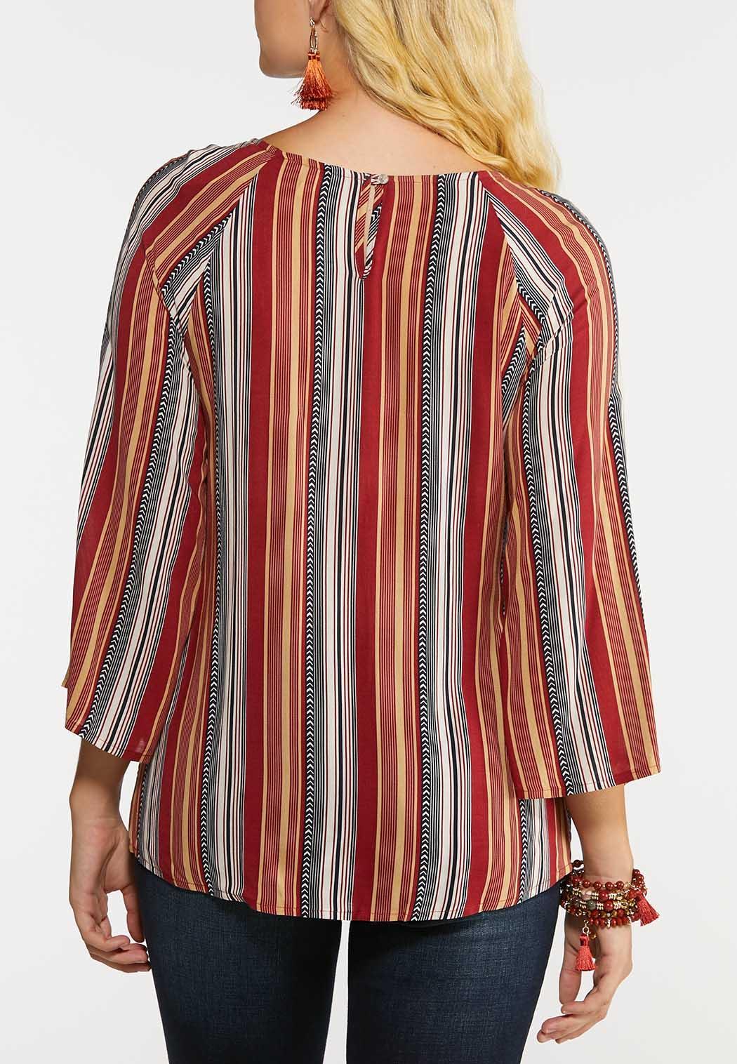 Autumn Stripe Tie Top (Item #44004433)