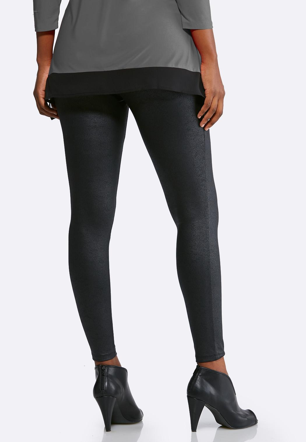 Black Coated Leggings (Item #44005112)