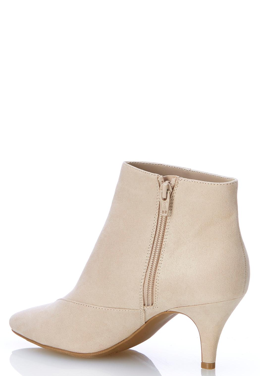 Faux Suede Pointy Toe Booties (Item #44005468)