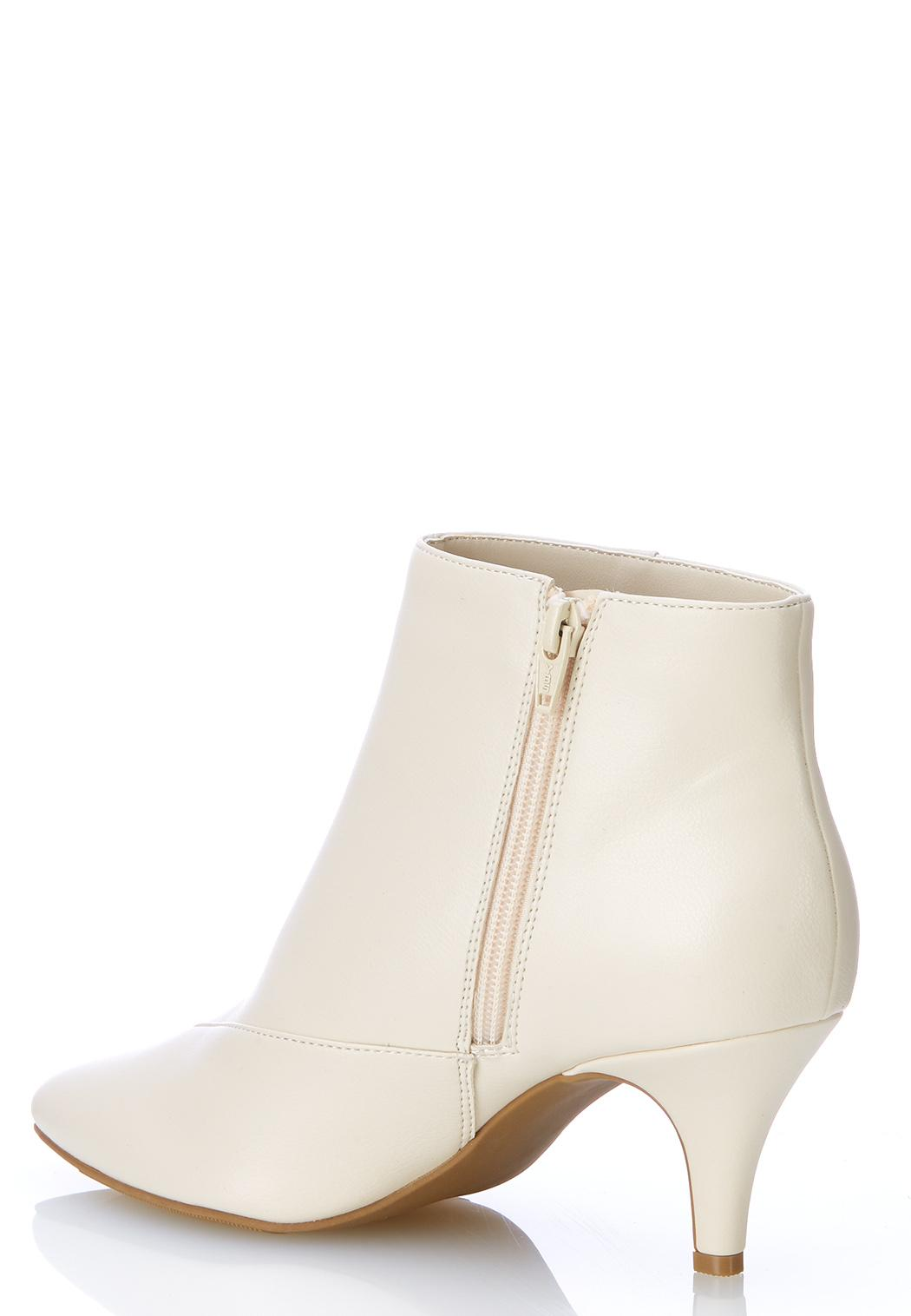 Faux Leather Pointy Toe Booties (Item #44005517)