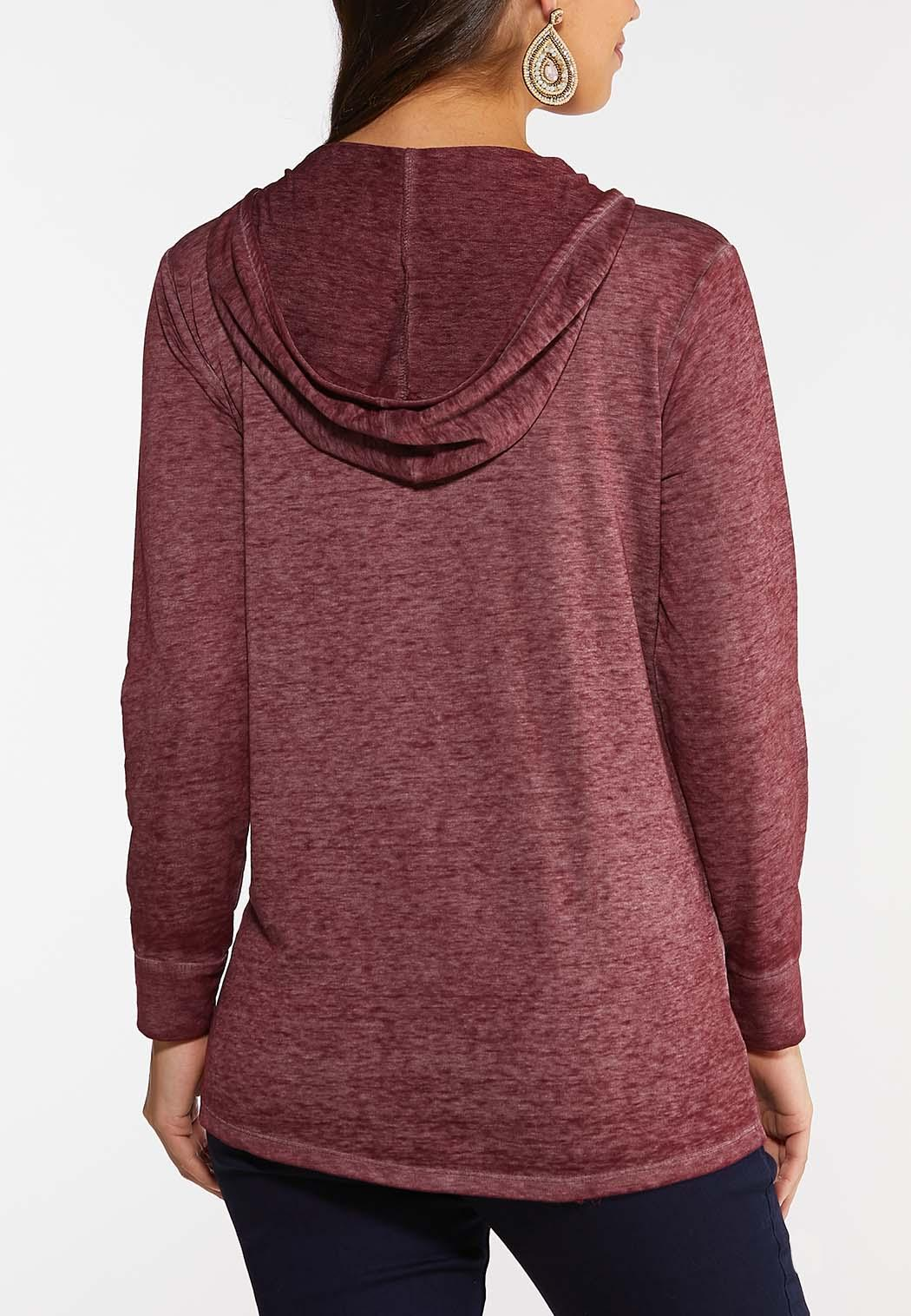 Lattice Neck Hooded Top (Item #44005972)